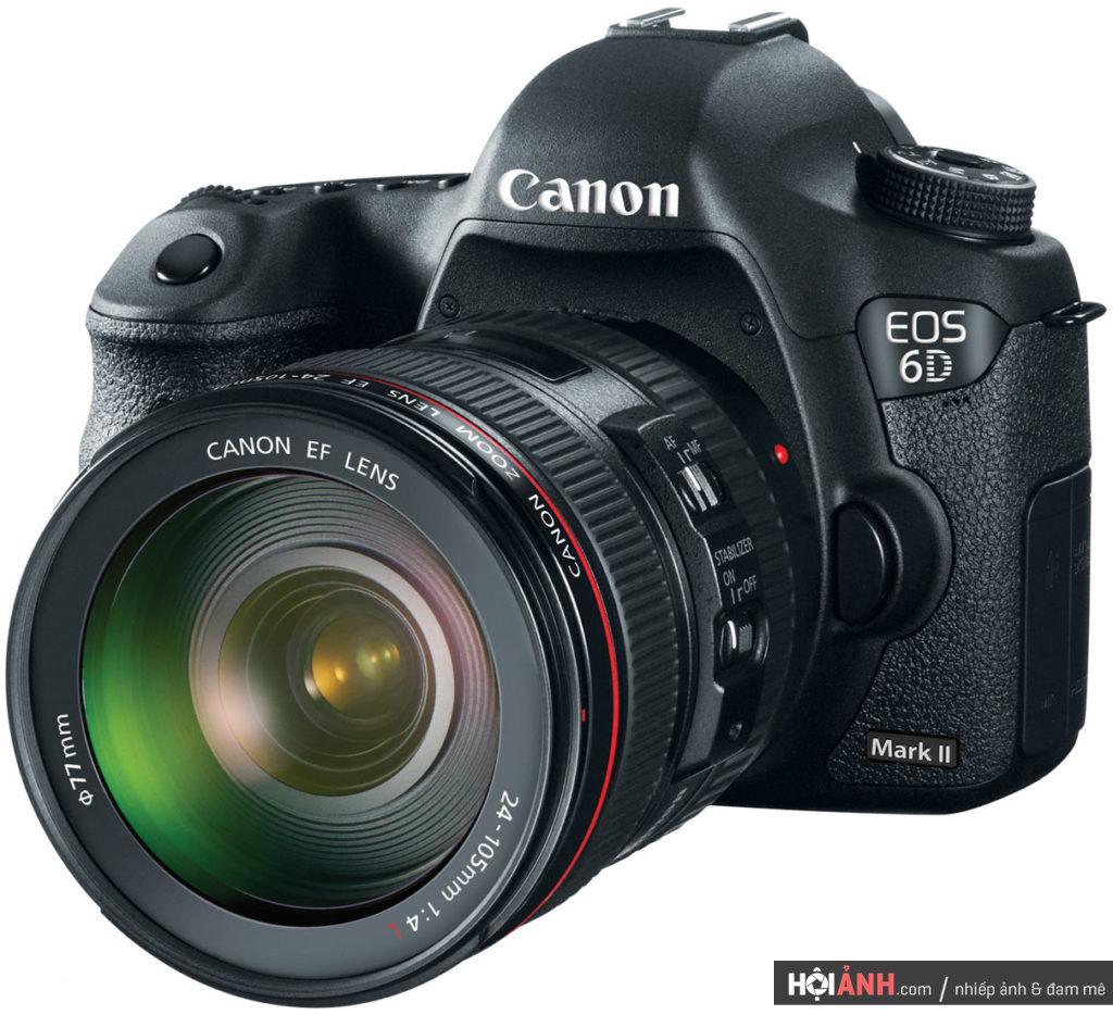 Canon 6D Mark II mockup cùng lens 24-105mm F4L